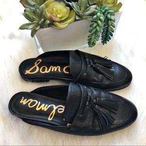 Sam Edelman Black Paris Leather tassel Mule